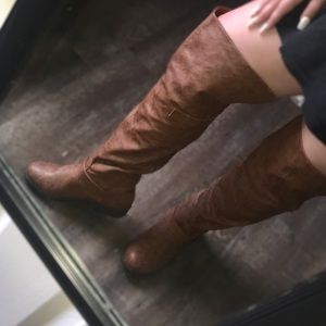 OVER THE KNEE TAN BOOTS!